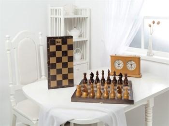 Шахматы гроссмейстерские деревянные с венге доской, рисунок золото (400*200*60)