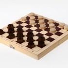 616 / D-2 Шашки деревянные с доской (230 х 115 х 45)
