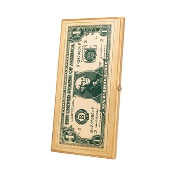 """Нарды """"Рисунок Доллар"""", бук, (50 x 25 x 4)"""