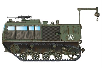 Тягач  M4 High Speed Tractor (155mm/8-in./240mm)  (1:72)