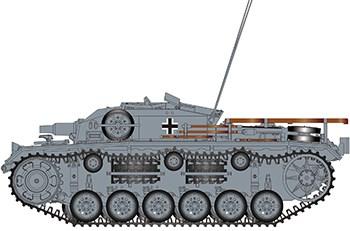 САУ  Sturmgeschütz III Ausf E SdKfz 142/1 Eastern Front 1942  (1:35)