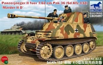 САУ  Panzerjaeger II fuer 7.62cm PaK36(Sd.Kfz. 132) Marder II D(1:35)