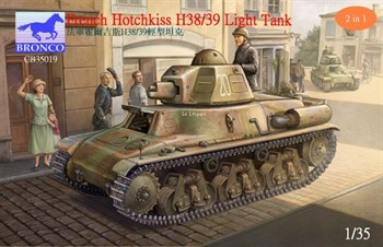 Танк  French Hotchkiss H38/39 Light Tank (1:35)