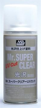 (!) Краска художественная т.м.MR.HOBBY  Mr.SUPER CLEAR UV CUT GLOSS 170мл