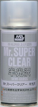 (!) Краска художественная т.м.MR.HOBBY  Mr.SUPER CLEAR SEMI-GLOSS 170мл