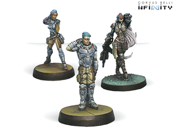 Dire Foes Mission Pack 1: Train Rescue (PanOceania VS Morat) Bipandra, Anyat, Angus (Mission Pack)
