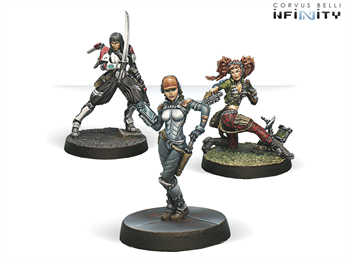 Dire Foes Mission Pack 3: Dark Mist (Caledonia VS Japanese Sectorial Army) Isobel MacGregor, Yuriko Oda, Comm-Tech (Mission Pack)