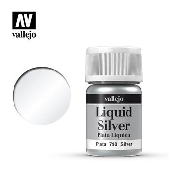(!) 211.Краска металлическая лаковая Vallejio/Серебро