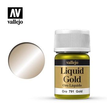 212.Краска металлическая лаковая Vallejio/Золото