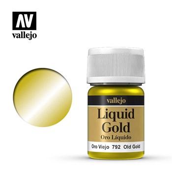 213.Краска металлическая лаковая Vallejio/Золото античное