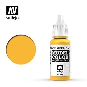 Model Color Flat Yellow 17 ml.