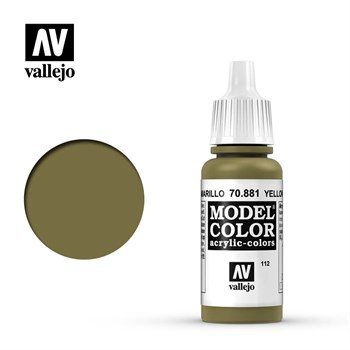 112. Model Color Yellow Green (Verde Amarillo) 17 ml. Vallejo