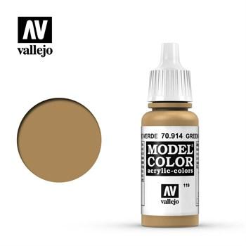 """119.""""Model Color""""  Охра зеленая.  914 Vallejo"""