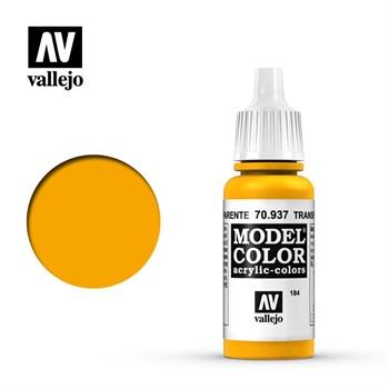 """184.""""Model Color""""  Желтый прозрачный. 937 Vallejo"""