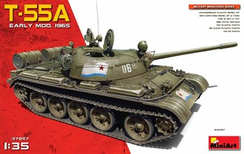 Танк  T-55a Early Mod. 1965  (1:35)