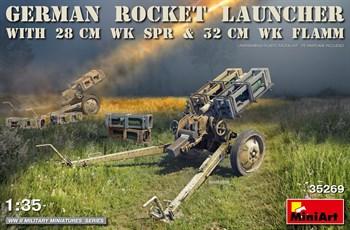 Пушка  German Rocket Launcher With 28cm Wk Spr & 32cm Wk Flamm  (1:35)