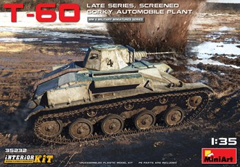 Танк  T-60 Late Series, Screened Gorky Automobile Plant Interior Kit  (1:35)