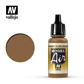 """032.  """"Model Air""""  Золотисто-коричневый Vallejo"""