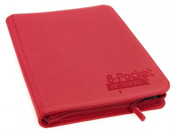 8-Pocket  ZipFolio XenoSkin Red