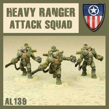 Heavy ranger Attack squad (собран и загрунтован) Мрачные Жнецы