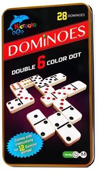 Hicreate: Домино цветное в жестяной коробке (Dominoes)