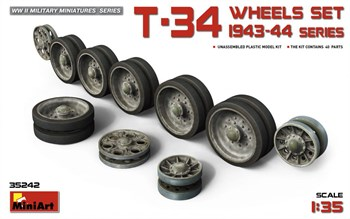 Аксессуары  T-34 Wheels Set 1943-44 Series  (1:35)