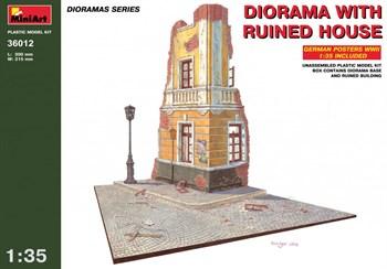 Наборы Для Диорам  Diorama With Ruined House  (1:35)