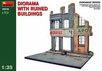 Наборы Для Диорам  Diorama With Ruined Buildings  (1:35)