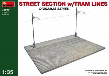Наборы Для Диорам  Street Section W/Tram Lines  (1:35)