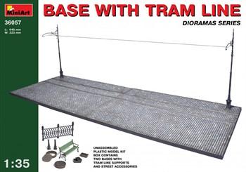 Наборы Для Диорам  Base With Tram Line  (1:35)