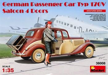 Сборная модель German Passenger Car Typ 170v Saloon 4 Doors  (1:35) MiniArt