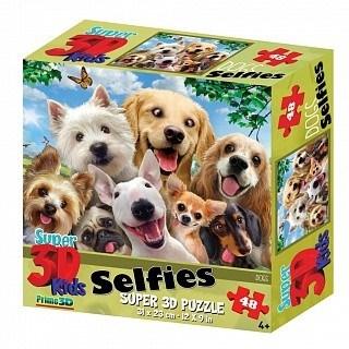 Prime 3D: 13535 Пазл Super 3D «Собаки селфи», 48 детал., 3+