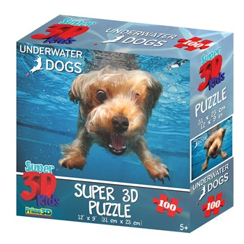 Prime 3D: 13566 Пазл Super 3D «Лохматый подводник», 100 детал., 5+