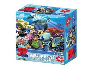 Prime 3D: 13686 Пазл Super 3D «Жизнь на рифе», 48 детал., 3+