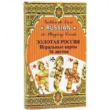 Игральные карты Золотая Россия, 36 листов