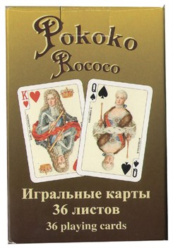 Игральные карты Рококо, 36 листов